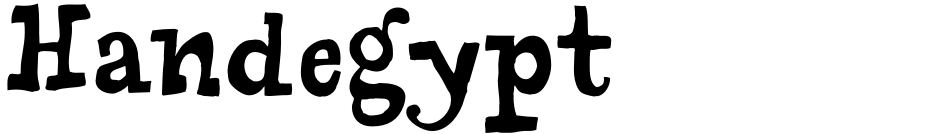 Click to view Handegypt font, character set and sample text