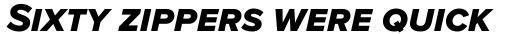 Proxima Nova S ExtraBold Italic sample