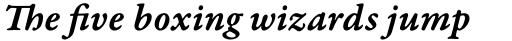 Garamond Premr Pro Caption SemiBold Italic sample
