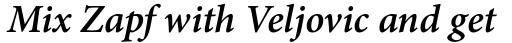 Minion Pro SemiBold Italic sample