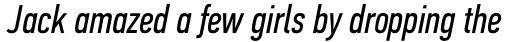 PF DIN Text Comp Pro Italic sample
