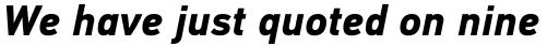 PF DIN Text Pro Bold Italic sample
