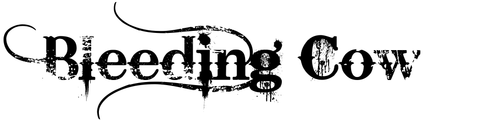 Click to view Bleeding Cowboys Pro font, character set and sample text