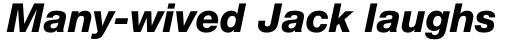 Neue Helvetica Pro Cyrillic 86 Heavy Italic sample