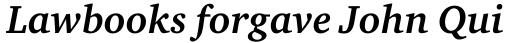 ITC Charter Std Bold Italic sample