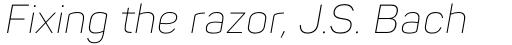 Panton ExtraLight Italic sample