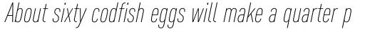 FF DIN Pro Cond ExtraLight Italic sample