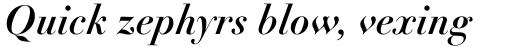 Linotype Didot Pro Bold Italic sample