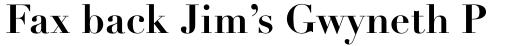 Linotype Didot Std Bold sample