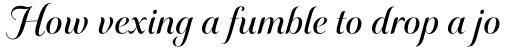 Elicit Script SemiBold Formal sample