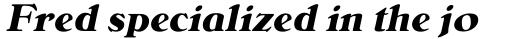Bellini RR Bold Italic sample