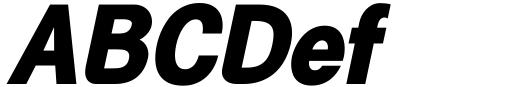Generation Gothic ExtraBold Italic Sample