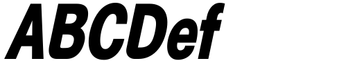 Generation Gothic Condensed ExtraBold Italic Sample