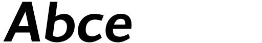 Conqueror Sans SemiBold Italic Sample
