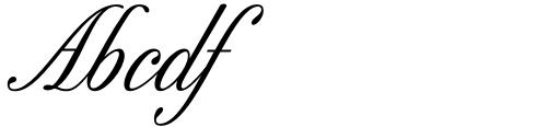 Excelsor Script 10 Sample
