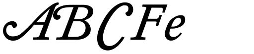 Diethelm AR Swash Italic Sample