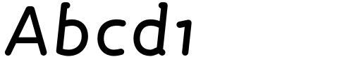 FF Roice OT Medium Italic Sample
