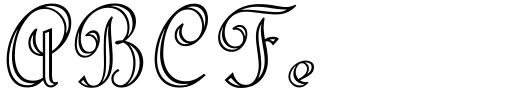 Riviera Script Std Regular Sample