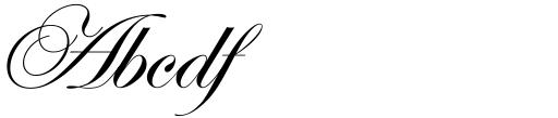 Edwardian Script Std Sample