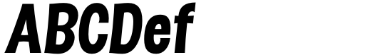 Dsert UltraBlack Italic Sample