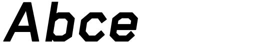 Raker Display Heavy Italic Sample