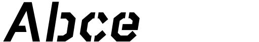 Raker Stencil Heavy Italic Sample