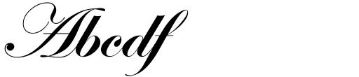 ITC Edwardian Script Bold Alt Sample