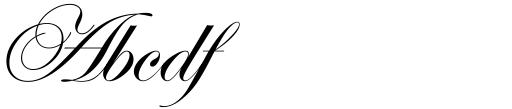 ITC Edwardian Script Regular Sample
