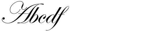 ITC Edwardian Script Regular Alt Sample