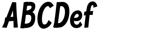 Jolly Good Proper Condensed Bold Italic Sample
