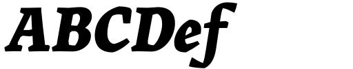 Landa Extra Bold Italic Sample