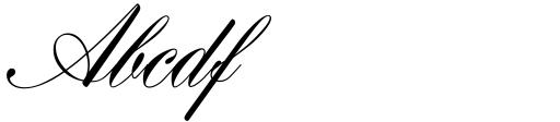 Hogarth Script D Sample