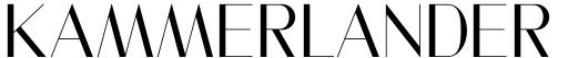 Kammerlander font