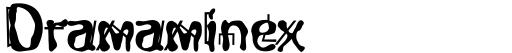 Dramaminex font