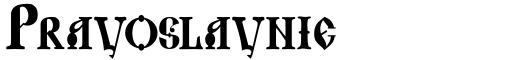 Pravoslavnie font