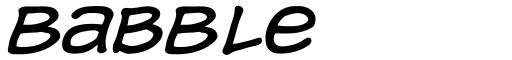 Babble font
