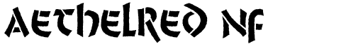 Aethelred NF font