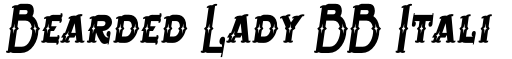 Bearded Lady BB Italic font