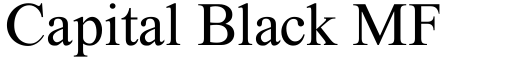 Capital Black MF Regular font