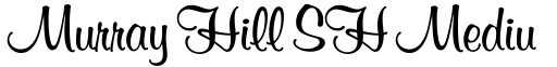 Murray Hill SH Medium font
