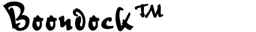Boondock™ font