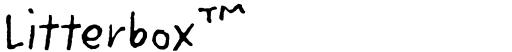 Litterbox™ font