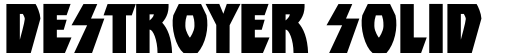 Destroyer Solid font