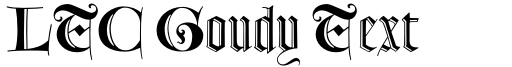 LTC Goudy Text Lombardic Shaded font