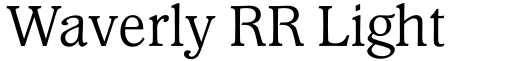 Waverly RR Light font