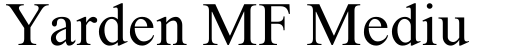 Yarden MF Medium Italic font