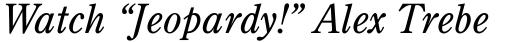 Century Old Style Italic sample