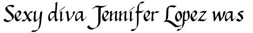 Hanes Italic sample