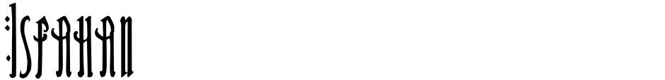 Click to view  Isfahan font, character set and sample text