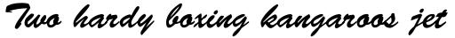 Brush Script Regular sample